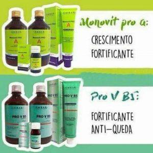Monovit Pro A E Prov B5 Crescimento+Anti-queda 8 Itens-Âmbar