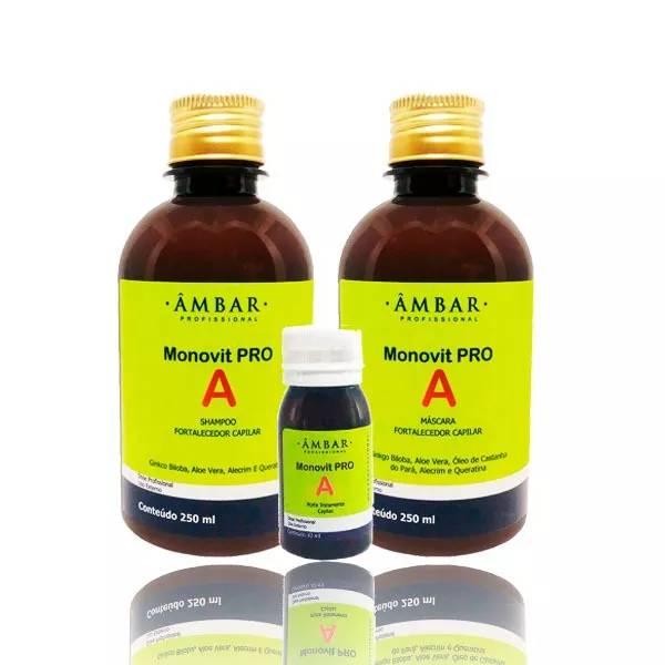 Monovit Pro A Crescimento(shampoo+mascara+ampola)3 Itens 250ml
