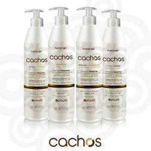 Cachos Nutra Hair (4 Ítens)shampoo+máscara+fluído+Gloss 300ml