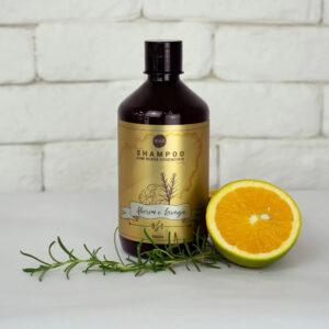 Óleos Essenciais – Shampoo de Alecrim & Laranja – Boaz Hair – 500ml